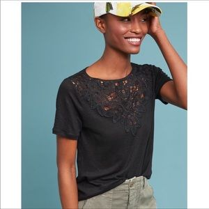 James Coviello Lace Front Tee